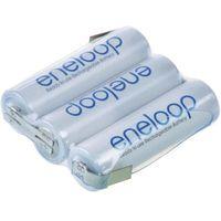 Pakiet akumulatorów AA, NiMH Panasonic eneloop Reihe F1x3, Ilość ogniw: 3, 3.6 V, 1900 mAh, Z-końcówka do