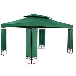 Pawilon ogrodowy - prostokątny - ciemnozielony marki Uniprodo
