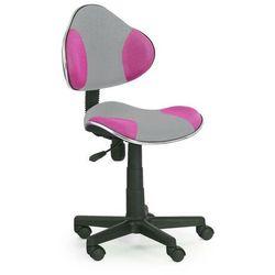Fotel Flash 2 szaro-zielony kółka do dywanów