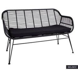 SELSEY Sofa ogrodowa Hesso z technorattanu czarna (5903025640976)