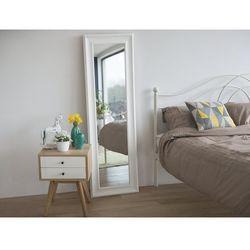 Lustro białe - w ramie - do łazienki - do salonu - 51 x 141 cm - lunel marki Beliani