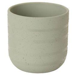 Doniczka ceramiczna c72 ozdobna 12 cm szara marki Goodhome