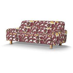 pokrowiec na sofę nikkala krótki, żółto-brązowe kwiaty, sofa nikkala, wyprzedaż do -30% marki Dekoria