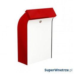 Skrzynka na listy bent czerwono-biały marki Max knobloch