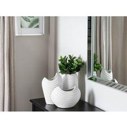 Dekoracyjny wazon na kwiaty biały daldis marki Beliani