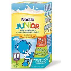 Mleko modyfikowane Nestle Junior 12m+ smak waniliowy 350g - sprawdź w wybranym sklepie
