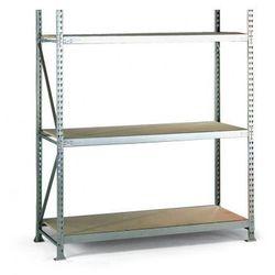 Regał półkowy, nośność 600 kg, 2500x2200x800 mm, podstawowy
