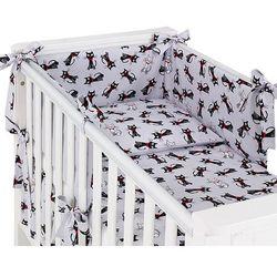 Mamo-tato dwustronna rozbieralna pościel 3-el kotki szare / szary do łóżeczka 70x140cm