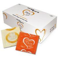 Waniliowe prezerwatywy moreamore condom tasty skin vanilla 100 sztuk marki More amore