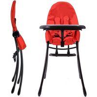 Krzesełko do karmienia  nano składane czarno-czerwony + darmowy transport! marki Bloom