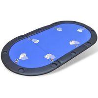vidaXL Składany blat do stołu pokerowego dla 10 graczy, niebieski - produkt z kategorii- Pozostałe gry i ko