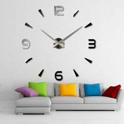 WIELKI zegar na ścianę srebrny srebrny większa niż 50 cm