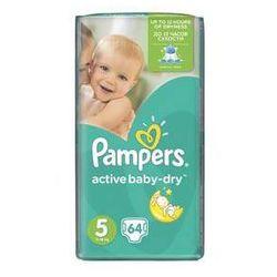 Pampers Pieluszki  active baby-dry rozmiar 5 junior, 64 szt., kategoria: pieluchy jednorazowe