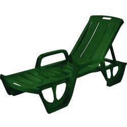 Leżak plastikowy Florida - zielony