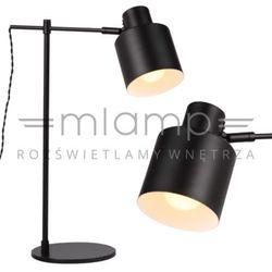 Stojąca LAMPKA biurkowa BLACK T0025 Maxlight gabinetowa LAMPA regulowana czarna
