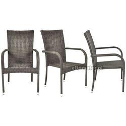 Krzesło ogrodowe z technorattanu malaga od producenta Edomator.pl