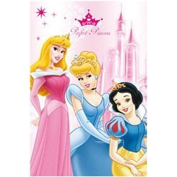 Dekoria Kocyk polarowy Disney Princess Ksieżniczki z koroną 100 × 150 cm -50%, 100 × 150 cm