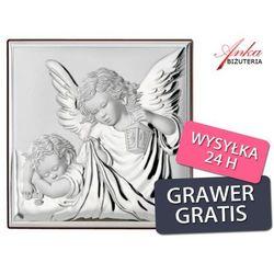 Obrazek Srebrny Anioł Stróż z latarenką Prezent dla Dziecka Grawer Gratis - sprawdź w wybranym sklepie