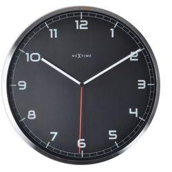 Nextime:: Zegar Ścienny Company czarny Ø35cm - czarny