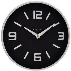 Zegar ścienny Shuwan Nextime 43 cm, czarny, kolor czarny