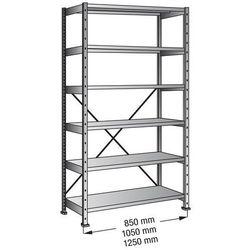 Przemysłowo-magazynowy regał wtykowy, wys. 2280 mm, 6 półek,szer. półki 1200 mm