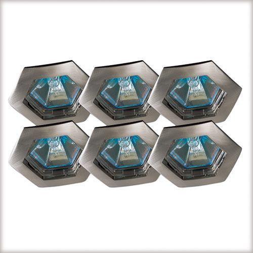 Wysokogat. Oprawy wbudowywane Hexa, 6 szt., stal satyn., 6x35W z kategorii oświetlenie