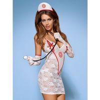 Obsessive (pol) Medica sukienka kostium 5-częściowy + stetoskop l/xl