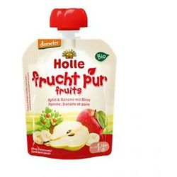 PRZECENA Mus OWOCOWY w tubce: jabłko, banan, gruszka od 12 mies.90 g Holle - produkt z kategorii- Kaszki i kl