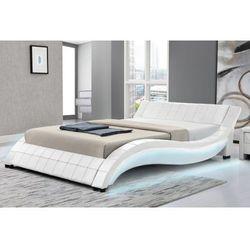 Meblemwm Łóżko tapicerowane do sypialni 160x200 839 led białe (9999001148631)