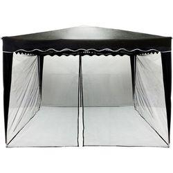 Instent ® Czarna moskitiera siatka ochronna do pawilonu 3x3m - czarny