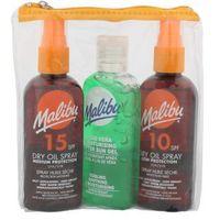 Malibu  dry oil spray spf15 zestaw suchy olejek do opalania spf15 + suchy olejek do opalania spf10 100 ml + ż