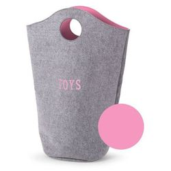 Filcowa torba szary z różowym Childhome
