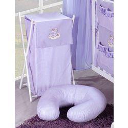 MAMO-TATO Kosz na bieliznę Śpioch na chmurce w fiolecie