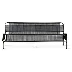 Hkliving woven outdoor lounge sofa black mzm4988