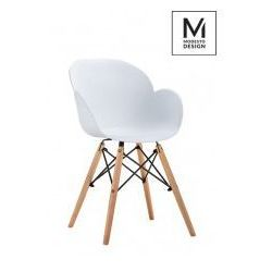 Modesto design Modesto fotel flower wood biały - polipropylen, podstawa bukowa