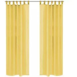 Zasłony z woalu, 2 sztuki, 140 x 245 cm, kolor żółty marki Vidaxl