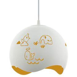 Eglo Lampa wisząca laurina 97392 sufitowa dziecięca 1x60w e27 biało/żółta
