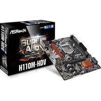 ASRock H110M-HDV Mainboard, 2x DDR4 DIMM, Sockel 1151, 4x SATA 3, 1x DVI-D, 1x VGA, 1x HDMI (4717677327168)
