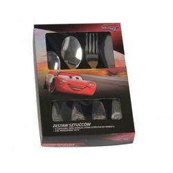 DISNEY Komplet 4 sztućców dla dzieci Cars Magic 37980