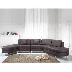 Luksusowa sofa kanapa brązowa skórzana copenhagen marki Beliani