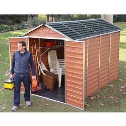 Brązowy domek narzędziowy skylight 6x10 - transport gratis! marki Palram