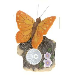 Progarden Lampa solarna motyl pomarańczowy figurka kamienna - wzór vi