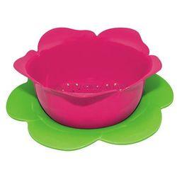 Durszlak z podstawką różowo-zielony duży zak!