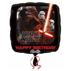 Balon foliowy Star Wars - Przebudzenie Mocy - Happy Birthday - 47 cm - 1 szt.