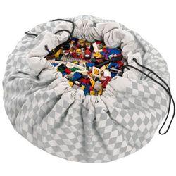 Worek na zabawki Play&Go -szare romby - produkt z kategorii- Pojemniki na zabawki