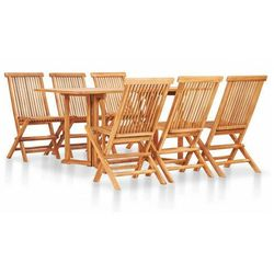 Zestaw drewnianych mebli ogrodowych - trivo 4x marki Elior