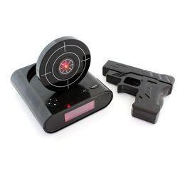 Zegarek budzik strzelanie pistoletem do tarczy marki Apte