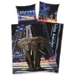 pościel bawełniana słoń w mieście, 140 x 200 cm, 70 x 90 cm marki Herding