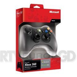 Microsoft  xbox 360 wireless czarny (adapter do pc w zestawie) nowa wersja - produkt w magazynie - szybka wysy