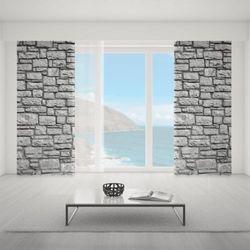 Zasłona okienna na wymiar - BLACK FLAT WALL OF ROCKS